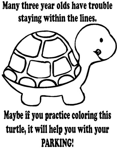 picture relating to Turtle Printable identified as Terrible parking printable attention Turtle coloring sheet